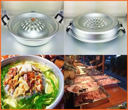 """THAI BBQ BARBECUE HOT PAN STYLE GRILL STEAK CHARCOAL KOREA KITCHEN COOKWARE 12/"""""""