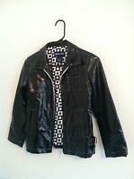 Nice Limited Too girls jacket s10 small 10 black reflective shimmery coat winter