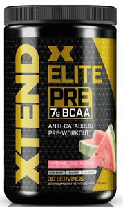Scivation XTEND Elite Pre BCAA Powder 30 Serv WATERMELON EXPLOSION Pre-Workout