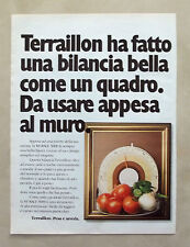 D695 - Advertising Pubblicità - 1981 - TERRAILLON BILANCIA