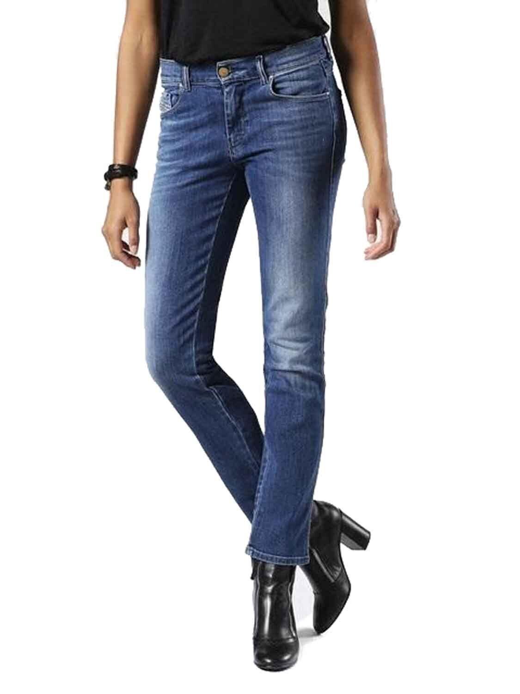 DIESEL Sandy 0857p Stretch Donna Jeans Pantaloni Slim Straight