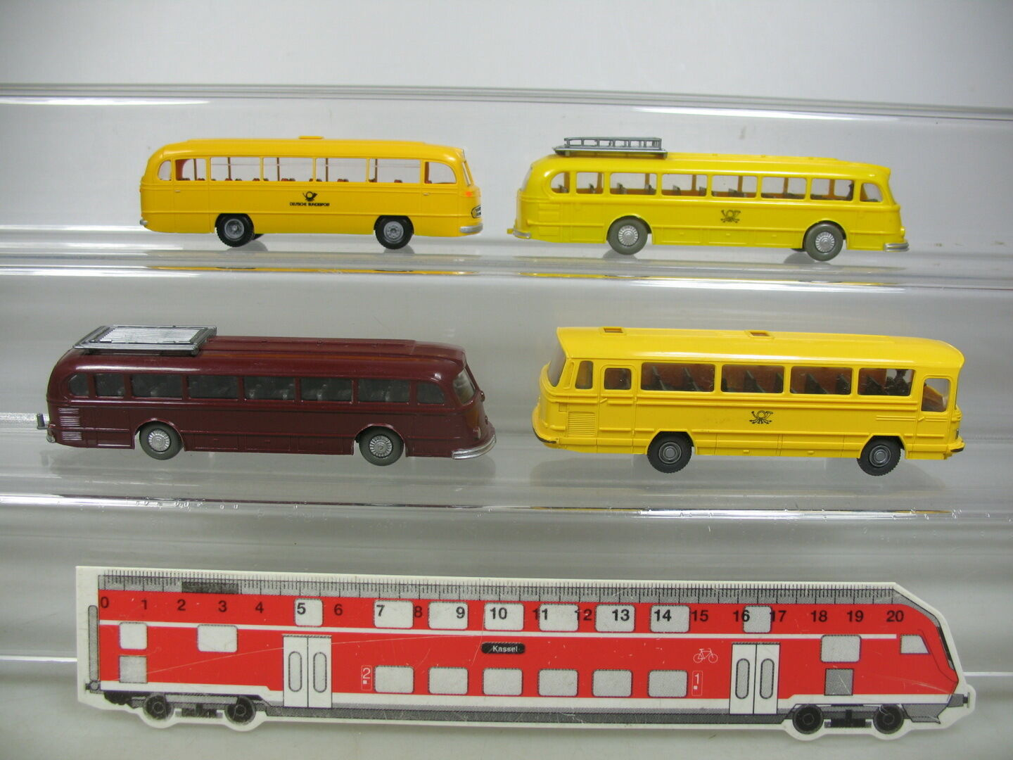 AJ401-0, 5 x Wiking Brekina H0 Bus  Mercedes-Benz MB o 321 Bundespost Etc.
