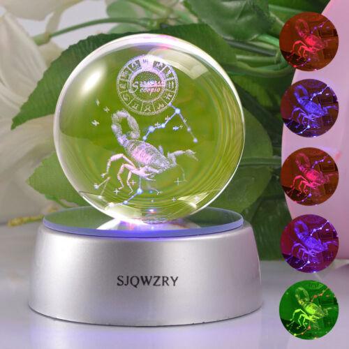 Star Wars 3D LED Decor Crystal Ball Night Light Table Lamp Bedroom Crafts Gift