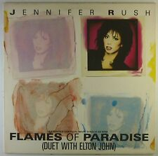 """12"""" Maxi - Jennifer Rush - Flames Of Paradise - L5452h - washed & cleaned"""
