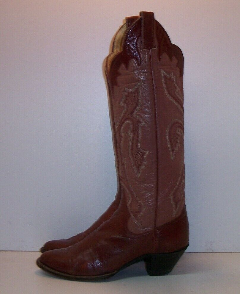 PANHANDLE SLIM Cinnamon Brown Leather Western Boots Women's Size 7 C