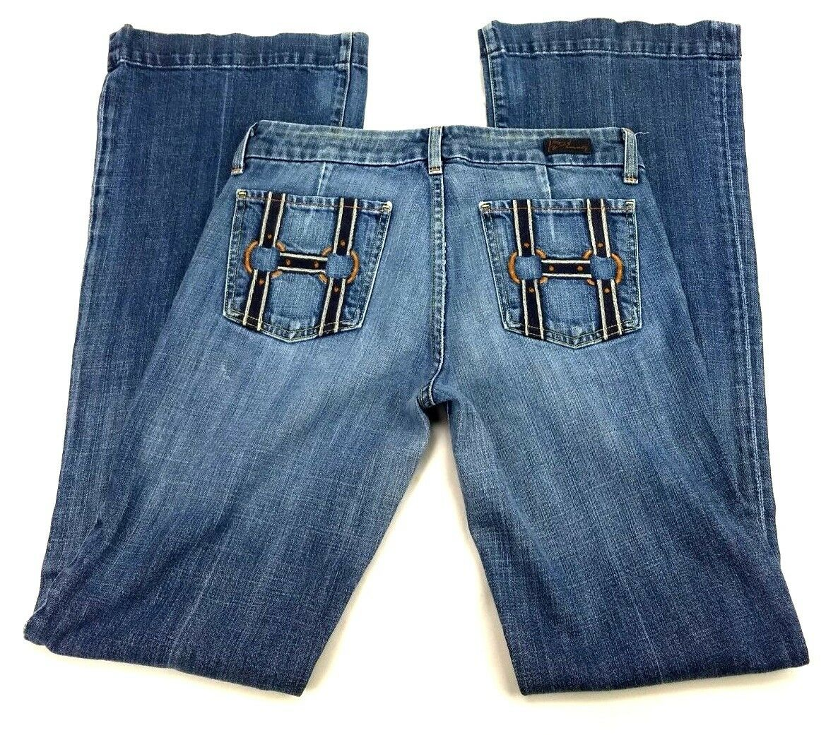 Citizens of Humanity Women 28 Jeans bluee USA Faye 184 Low Waist Flare Stretch AQ