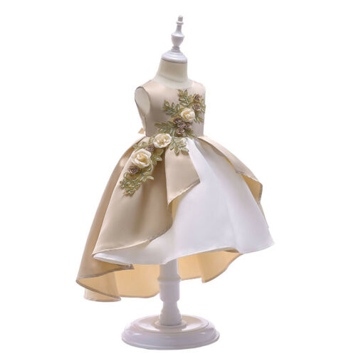 UK Kid Baby Flower Girl Princess Party Wedding Bridesmaid Formal Prom Gown Dress