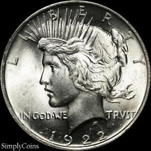 1922-Peace-Dollar-CHOICE-BU-Uncirculated-LUSTER-90-Silver-US-Coin
