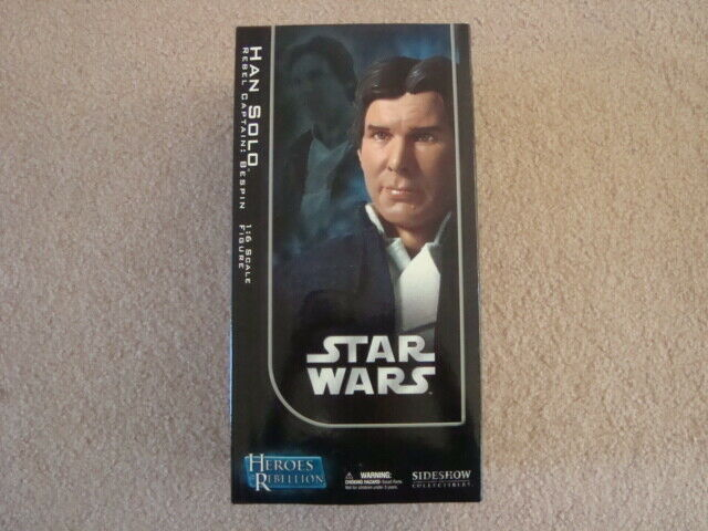 NIB STAR WARS HAN HAN HAN SOLO REBEL CAPTAIN 1 6 SCALE ORDER OF JEDI SIDESHOW EXCLUSIVE 4a35c5