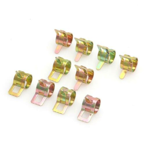 10Pcs 9mm//0.35 inch Spring Clip Fuel Oil Water Hose Tube Pipe Clamp Fastener FF