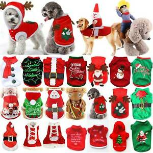 US-Pet-Cat-Dog-Christmas-Outfit-Costumes-Sweater-Hoodie-Riding-Xmas-Clothes-Coat
