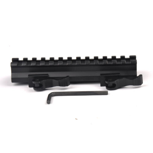 Quick Release 20mm Picatinny Rail Offest Riser Base adapter QD Mount Rifle Hunt