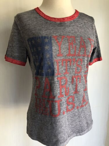 """MILEY CYRUS Official /""""Party In The USA/"""" July 4th Burnout T-Shirt Sizes M//XL//2XL"""