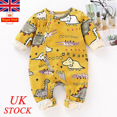 Newborn Baby Boy Girl Romper Jumpsuit Animal Printed Bodysuit Clothes Outfits