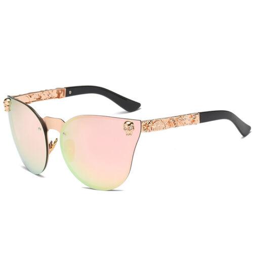 Fashion Women Gothic Sunglasses Skull Frame Metal Temple High Quality