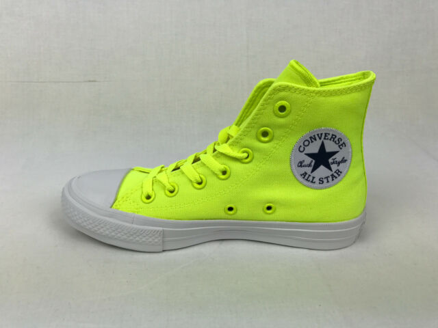 46fe592ed645 Converse Mens Chuck Taylor II All Star Hi High Top Volt Green Fit Women  150157C