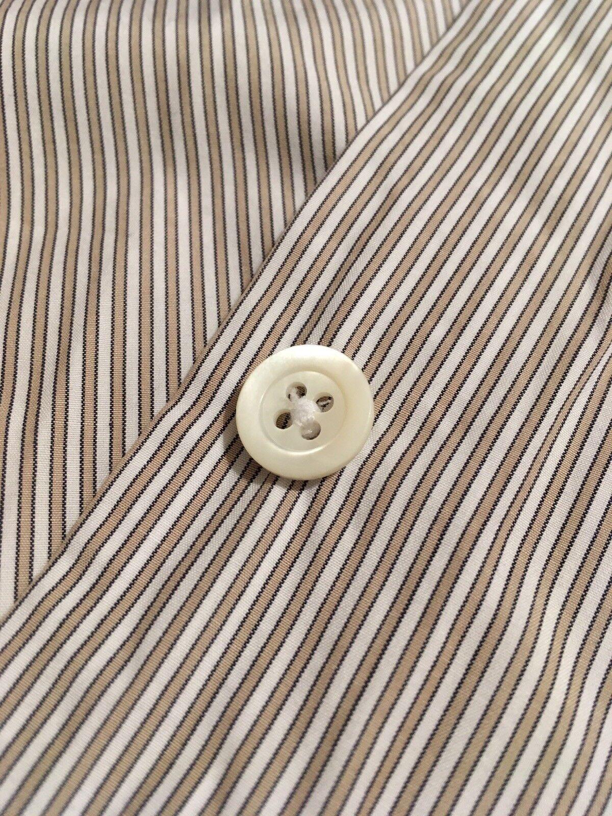 Margaret Howell Minimal Shirt, Stripe, Poplin, XS, Made in England