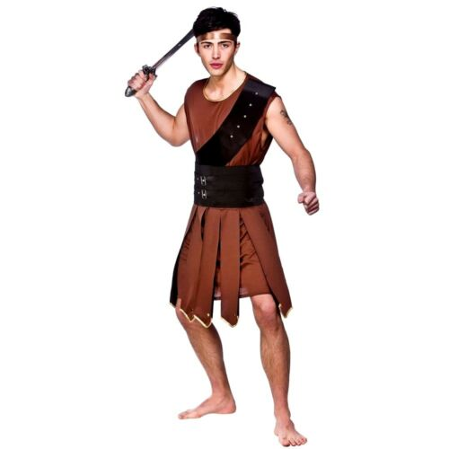Adult SPARTACUS GLADIATOR Roman Spartan Centurion Mens Male Fancy Dress Costume