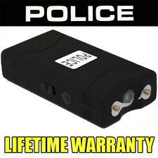 Stun Gun POLICE 800B- 100,000,000 Mini Rechargeable + LED Flashlight BLACK