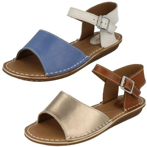 Combi Sinitta Open Wide Blue Tustin Leather Buckled blue Clarks Fit Ladies Toe Sandals Summer BUnR7UT