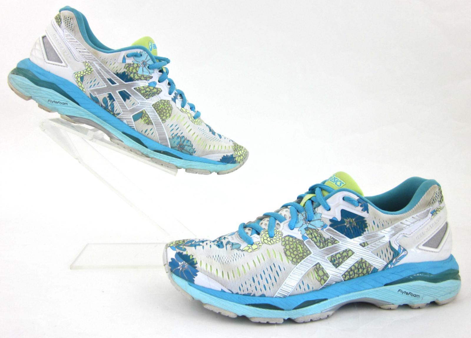 Asics Gel-Kayano 23 LTD Floral Edition Running shoes White Silver Aquarium 8.5
