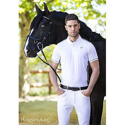 Horseware Platinum Mens Torino Breeches Black Charcoal White