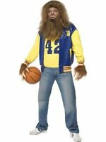 Teen Wolf Licensed 80s Costume Movie Werewolf Halloween Fancy Dress Party Blue