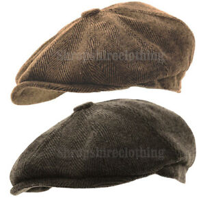 2a573a31 Image is loading Mens-Herringbone-Baker-Boy-Caps-Newsboy-Hat-Country-