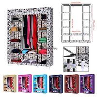 68 Clothes Wardrobe Closet Storage W/ Shelves Cabinet Hanger Metal Racks Bsty