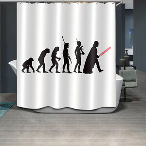 Image Is Loading 60X72 039 Alien Wars Fabric Waterproof Bathroom
