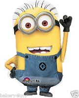 Minions Despicable Me Waving Shape Mylar Foil Balloon Birthday Party Youth