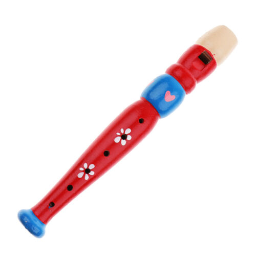 Kids Toddler Wooden Flute Whistle Musical Instrument Education Toy Ramdon