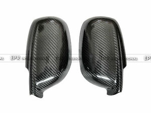 For Nissan Skyline R32 GTR Carbon Fiber Side Mirror Cover Glossy Molding Trim