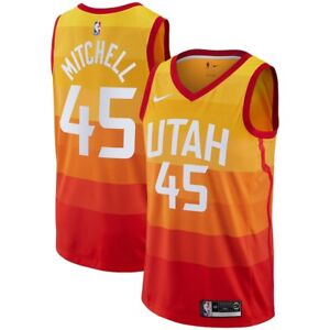 Nike 2018-2019 NBA Utah Jazz Donovan Mitchell  45 City Edition ... f990ecf3b