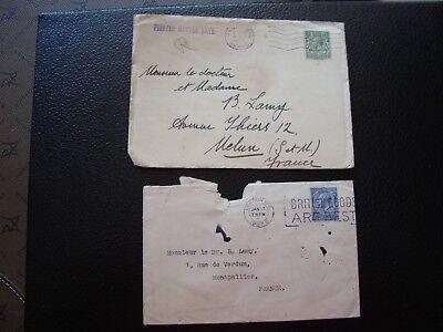 Vereinigte Königreich Moderater Preis 2 Umschläge 1927/1934 Vereinigtes Königreich b15