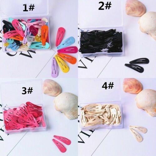 50 Pcs//Lot Vintage Cute Candy Color Kids Baby Curcly Hair Clips Princess Hairpin