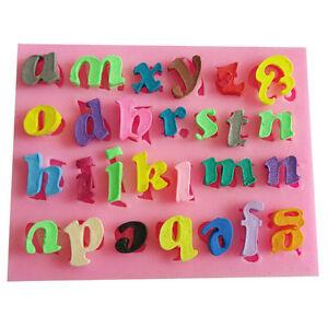 3 X Set Mini Buchstabe U Zahl Silikon Handgemachter Fondant Kuchen