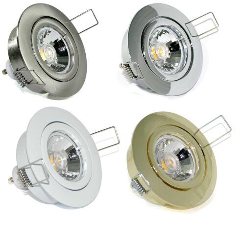 12V ohne Leuchtmittel 230V Einbaustrahler Halogen oder LED GU10 MR16 Fassung