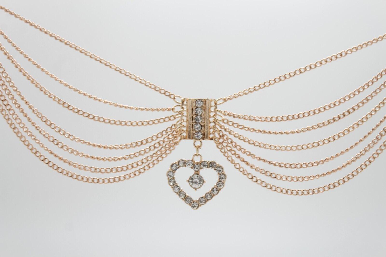 Western Women Gold Metal Chain Boot Bracelet Shoe Anklet Love Hear Bling Charm