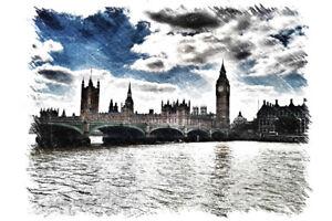London-England-Thames-River-Big-Ben-House-Parliament-Art-Print-Poster-18x12