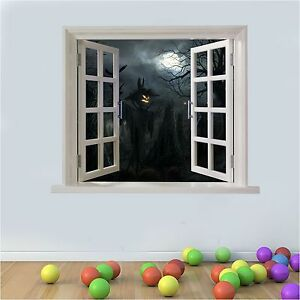 Decoracion-de-Pared-Grafico-Halloween-Espantapajaros-Calabaza-Artificial-Ventana