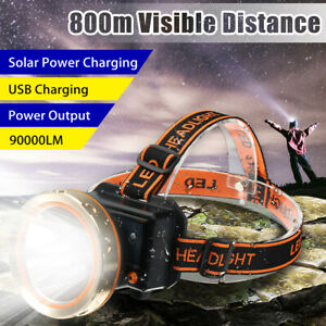 90000LM-T6-LED-Rechargeable-Headlight-Head-Lamp-Light-Torch-Camping-Flashlight