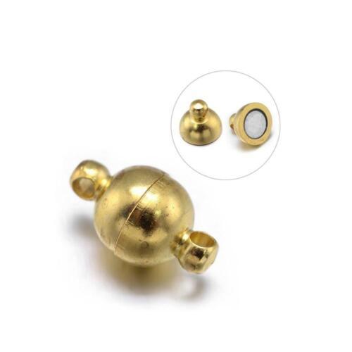 Latón Redondos magnético broches de oro 6 X 11mm 5 PC resultados Hazlo tú mismo fabricación de joyas