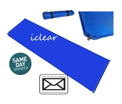 Self Inflating Camping Roll Mat Inflatable Sleeping Mattress Pad Pillow Bed new