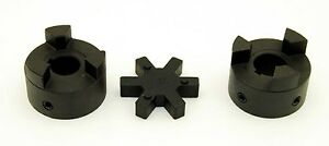 "3/4"" to 7/8"" L095 Flexible 3-Piece L-Jaw Coupling Coupler Set & Rubber Spider"