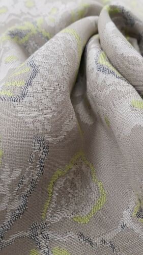 Grey/&green paisley curtain//cushion and light upholstery fabric with viscose