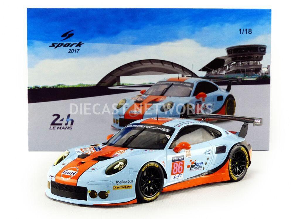 Spark Porsche 911 Rsr Lmgte Am le Mans 2017 Wainwright Barker Foster