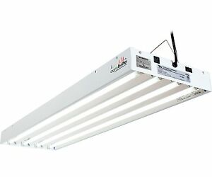 Agrobrite T5 216W 4\' 4-Tube Grow Light Fixture w/ Fluorescent Lamps ...