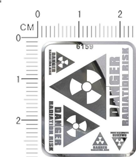 decals Radiation warning chrome metal Silver 6159