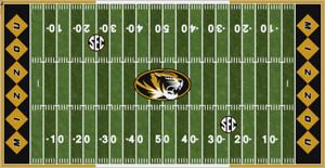 Missouri Tigers Electric Football Vinyl Field Cover Wall Art